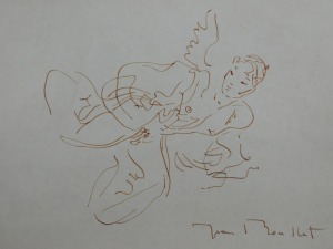 Jean Boullet: Semi-Nude Winged Young Man