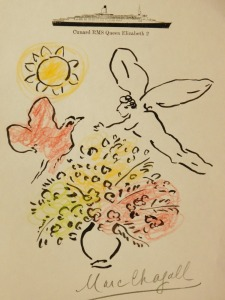 Marc Chagall: Drawing on Q.E.II Letterhead