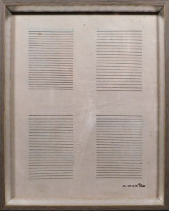 Manner of Agnes Martin: Drawing on Canvas
