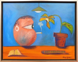 Philip Guston: Smoking Head with Plant