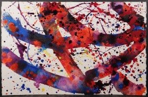 Sam Francis: Abstract Expressionist Composition