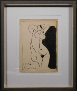 Pablo Picasso: Sketch of Nude Woman