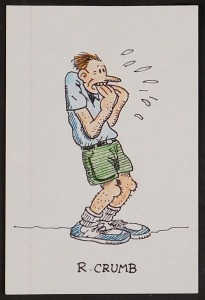 Robert Crumb (Attributed): Frightened Man