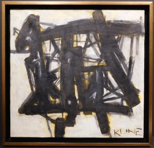 Franz Kline: Abstract Composition in Black and Yellow
