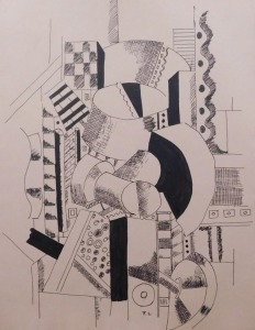 After Fernand Leger: Cubist Composition