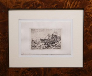 1846 Farmhouse Etching