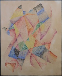 Gino Severini, Manner of/ Attributed: Abstract Pointillist Composition