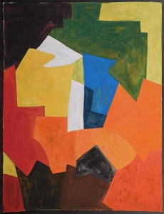 Serge Poliakoff, Attributed: Modernist Abstract Composition