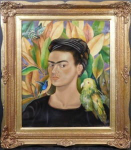 Frida Kahlo: Self Portrait with Bonito