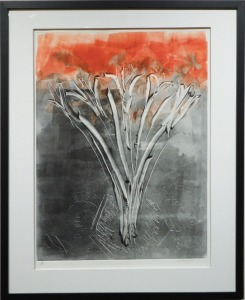 Abstract Floral Monotype, c.1980