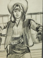 Cowgirl: Original Drawing - 4