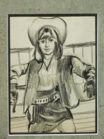 Cowgirl: Original Drawing - 5