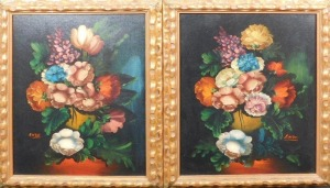 Enzo: Pair of Italian Floral Still Life Paintings