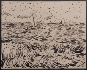 Vincent van Gogh, Manner of: Boats Study