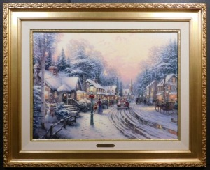 Thomas Kinkade: Village Christmas, Canvas Edition