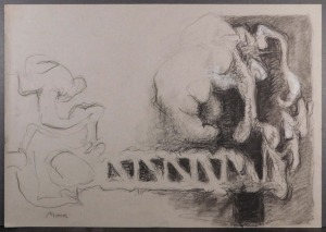 Henry Moore, Manner of: Double Sided Idea for a Sculpture