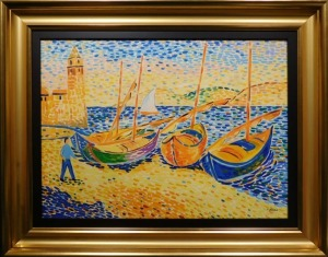 Andre Derain Manner of:  Boats at Collieure