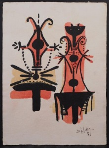 Wifredo Lam, attributed/manner of: Abstract Figures