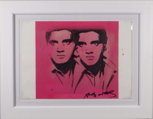 Andy Warhol Attributed: Double Elvis