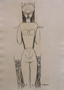 Manner of Modigliani: Caryatid