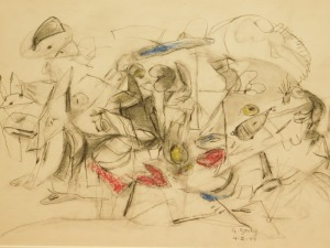Arshile Gorky Attr. Abstract Expressionist Sketch