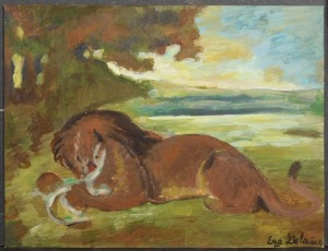 Eugene Delacroix, After: Lion Devouring a Goat
