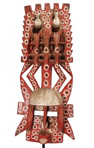 Red Painted Mask, Dogon People, Mali