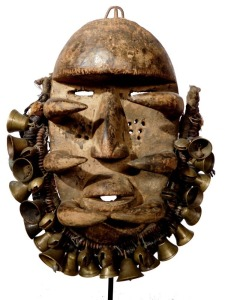 Bete Gre Mask w/Bells and Beads