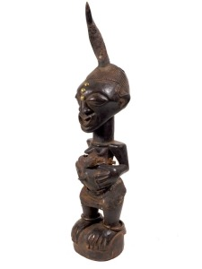 Female Fertility Fetish Figure, Luba, Zaire
