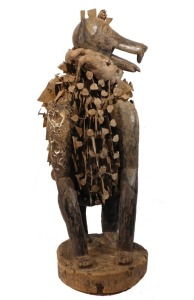 Large Nkisi Dog Power Figure Bakongo, Congo/Zaire