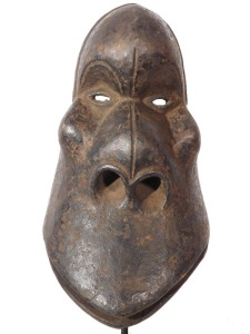 Baule Mbra Cult  Monkey Mask