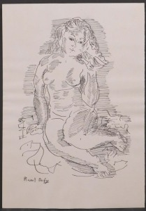After Raoul Dufy: Nude Listening to a Sea Shell