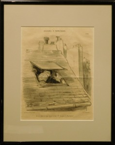 Honore Daumier: Humorous Cartoon (View of the Boucherie)