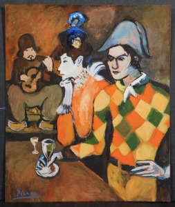 Pablo Picasso, Manner of: Harlequin
