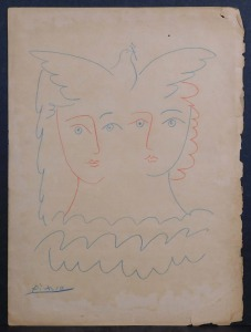 Pablo Picasso, Manner of: Peace Dove and Two Heads