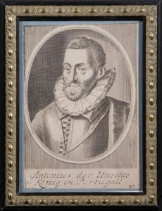 Antonius der Unechte Konig in Portugal: 17th Century Print