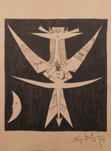 Wifredo Lam attributed/manner of: Surreal Figure (Bird)