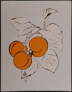 Andy Warhol Attr.: Three Peaches on a Branch