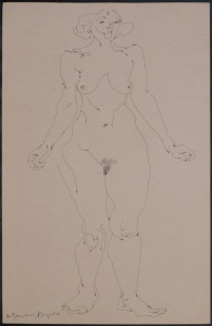 After Henri Brzeska: Standing Nude Woman
