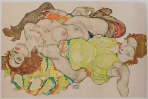 Egon Schiele, After: Two Girls Lying Entwined