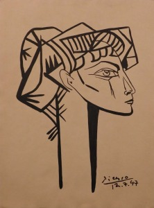 Pablo Picasso Attributed: Portrait of a Woman (Francoise Gillot)