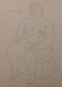 Gaston Lachaise, Manner of: Sitting Nude