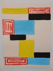 Sonia Delaunay Attributed: Abstract Composition