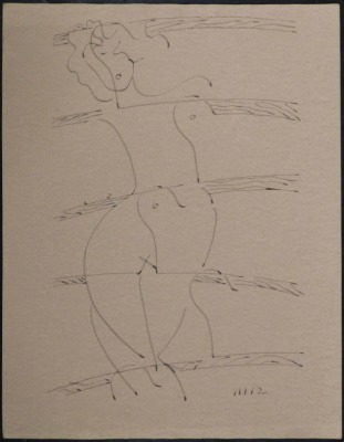 Man Ray Attr.: Standing Nude Woman