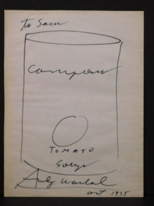 Andy Warhol Attributed: Soup Can Drawing