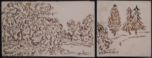 Vincent van Gogh (Attributed): Two Sketches