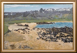Thordur Stefansson: Volcanic Rocks on the Beach