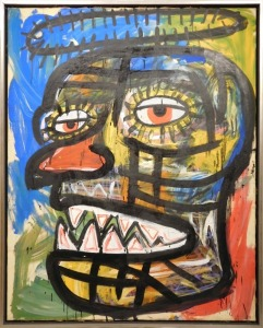 Jean-MichelяBasquiat: Face with Halo