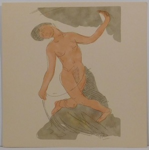 After Auguste Rodin: Two Lithographs After Rodin's Watercolors